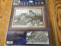 Signature Series for Needle Cross Stitch Natures Window Wolf Family 5404 NIP