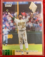 2020 Topps Stadium Club Chrome #399 Ricky Henderson Oakland Athletics