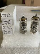 2 Matched Amperex 6922 PQ Vacuum Tubes White Label Gold Pins Tested