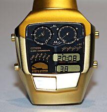 Citizen Ana Digi 8988 convertitori analogico-digitali-Quarzo-Cronografo - LCD Orologio RARO rarità