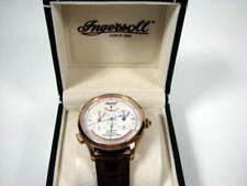 INGERSOLL IN4403RWH PENNSYLVANIA WHITE DIAL 45J AUTOMATIC DUAL TIME SS WATCH NIB