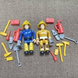 Lot 2pcs Original Fireman Sam PVC Action Figures & Accessories Toys Playset Gift
