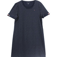 Tommy Hilfiger Women's Shirt Dress Pocket Dot Blue | Select Your Size | NWT