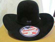 New in box American hat co Black 15 X western hat size 7 5/8