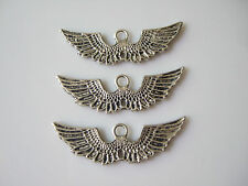 15 x Tibetan Silver Tone Angel Wings Metal Charms Pendants Beads Findings