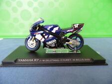 MODELLINO MOTOCICLETTA METALLO-1/24-YAMAHA R7-DELETANG-FORET-WILLIS DEL 2000