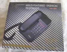 LaPhone LP125 Unical Telephone w Memory Wall  Desk Corded Land Line Phone Black