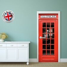 DS6 DOOR FRIDGE CUBOARD SKIN COVER RED PHONE BOX STICKER WRAP SCENERY VIEW MURAL