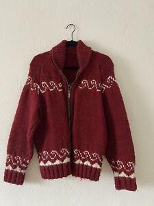 Vintage 1960s Cowichan Zip Up Sweater