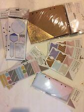 American Crafts Desktop Essentials Journal Life Planner Lot Pockets Stickers Tab