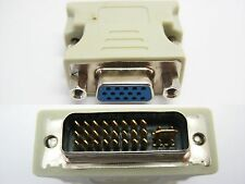 DVI-I Male Analog 24+5 to 15 Pin VGA Female Video Connector Converter Adapter