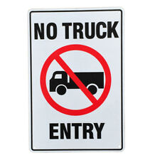3x WARNING SIGN No Truck Entry Notice 200x300mm Metal Safety Reflective Traffic