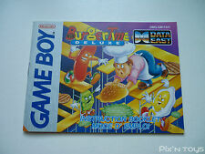 NINTENDO GAME BOY / Notice, Instructions Burger Time Deluxe [ DMG-GM-FAH ]