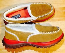 WEEKENDS BY KHOMBU SNOW DAY TAN LEATHER SHOES WITH  FUR TRIM Size 6 WORN ONCE