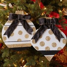 Large Flat Christmas Ornament Shapes set of 2 11 inches glad 3738009 NEW RAZ