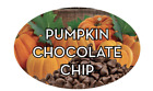 """Pumpkin Chocolate Chip Labels 500 per Roll Food Store Stickers 1.25"""" x 2"""""""