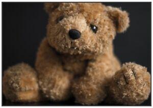 Unique handmade Teddy Bear greeting card & pro printed photo.