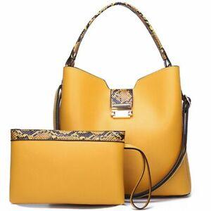 Handbag Clutch Set Women Fashion Leather Large Shoulder Bag Crossbody Messenger