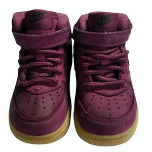 Nike Force Toddler LV1 Burgundy Crush Suede Shoes Size 6C