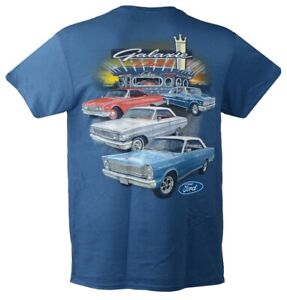 60 to 66 Ford Galaxie T-shirt - Blue100% Cotton Preshrunk