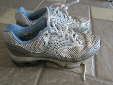 NIKE SHOX SNEAKERS RUNNING SHOES WOMENS 8.5 SILVER 040305  FREE SHIP