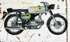 Motobi SportSpecial250 1971 Aged Vintage SIGN A4 Retro