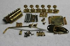 """FENDER Stratocaster Aged Relic GOLD USA 2 1/16"""" Hardware Set w/ tuners - Strat"""
