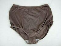 Vtg Vanity Fair Silky Liquid Mocha Chocolate Satin Nylon Granny Panty Size 8-XL