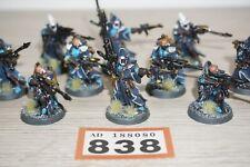 Warhammer 40k Eldar Aeldari Craftworlds Rangers / Scouts x 10 - LOT 838