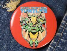 """Vintage Teenage Mutant Ninja Turtles Comics Red Button Pin Back 2"""" TMNT Cartoon"""
