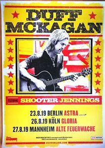 DUFF MCKAGAN – GUNS N ROSES 2019 TOUR - orig.Concert Poster -- Plakat   A1  NEU