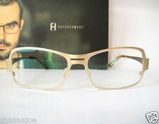 Freudenhaus Titanium 56-15 Germany Medium Large Nixon 2 Gold Eyeglass Frame Mens