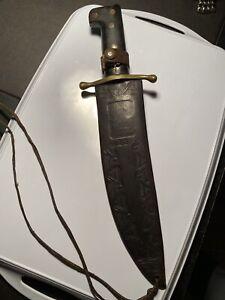WWII COLLINS & Co. LEGITIMUS Bowie Survival Knife No 18 w Original #13 Sheath