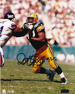 """REGGIE WHITE  """"GREEN  BAY PACKERS""""  SIGNED 8 X 10  PHOTO COA  OLD PRO GALLERY"""