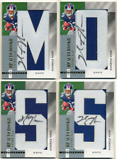 2006 Fleer Hot Prospects SINORICE MOSS Gold Letters Set 4 Auto Patch RC All #1/5