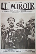 WW1 LE MIROIR 1916 DECORATION DRAPEAU AVION ABATTU SOLDATS RUSSES à MARSEILLE