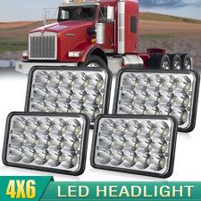 "4x Triple row 4""x6"" inch LED Headlights for Kenworth Freightliner Peterbilt"