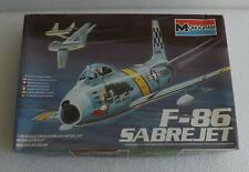 NEW 1983 MONOGRAM F-86 SABRE FIGHTER JET 1:48 SCALE MODEL KIT 5427