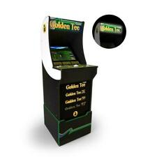 Golden Tee Arcade1Up Classic Gaming Cabinet with Custom Riser & Light-up Marquee