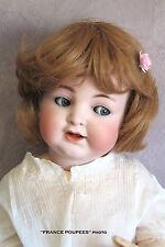 """perruque blond foncé 34/36cm poupon poupée ancienne-moderne-doll wig head sz14"""""""