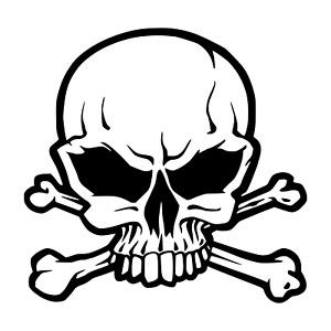 Skull Halloween Wall Window Death Car Sticker Vinyl  Decal Party Decorations D