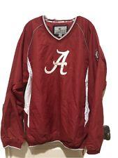 Alabama Crimson Tide V Neck Pullover Vented Jacket Windbreaker Red White Mens 3X