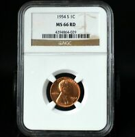1954-S Lincoln Wheat Cent Penny~NGC MS66RD~Combined Shipping~!