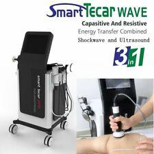 3in1 Shockwave Diathermy Ultrasound Wave Tecar Body Massage Health Spa Equipment