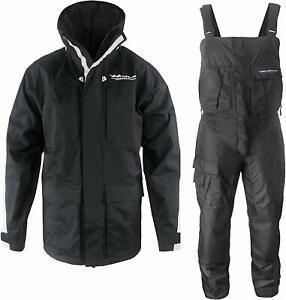 Pro Foul Weather Gear | Rain Suit Jacket + Bibs | Pockets | for Fishing Sailing