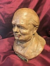 Sir Winston Churchill WWII Signed Peter Lambda VBV PL  Bust Match Striker 21cm