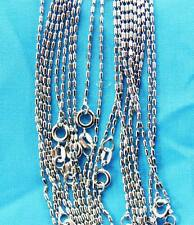 Chain Necklace Free shipping Lt7 wholesale lots 10pcs Silver 1.0mm pillars
