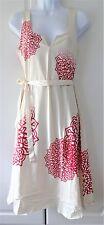 Desigual Ladies Dress, Sleeveless, Ivory&Red, Multi, Size M