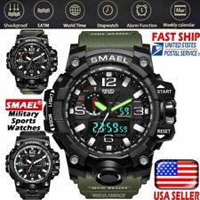SMAEL Men's Wrist Watch Waterproof Sport Military Shock Analog Quartz Digital