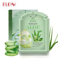 Whitening Skin Care Sheet Facial Mask Aloe Vera Gel Extract Repair Face Mask